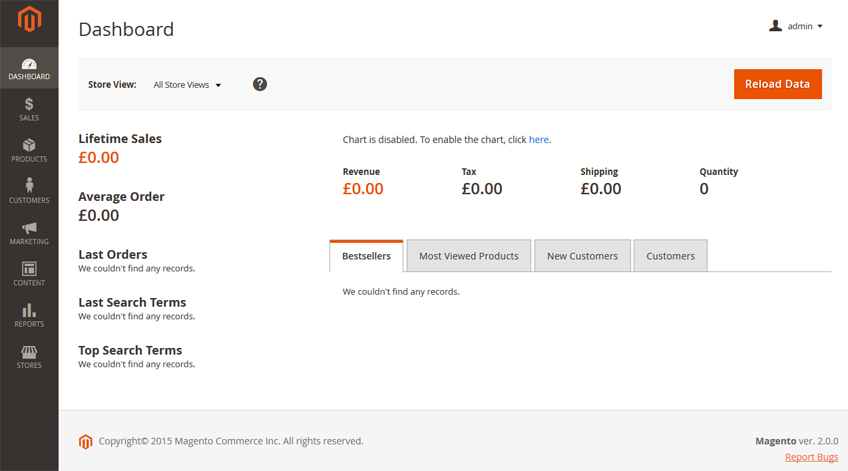 Screenshot of Magento 2 admin interface
